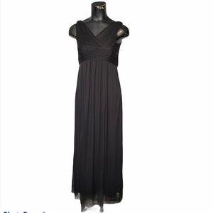 David's Bridal Black Chiffon Maxi Evening Gown